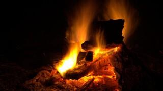fire pit burn fire wood burning coals