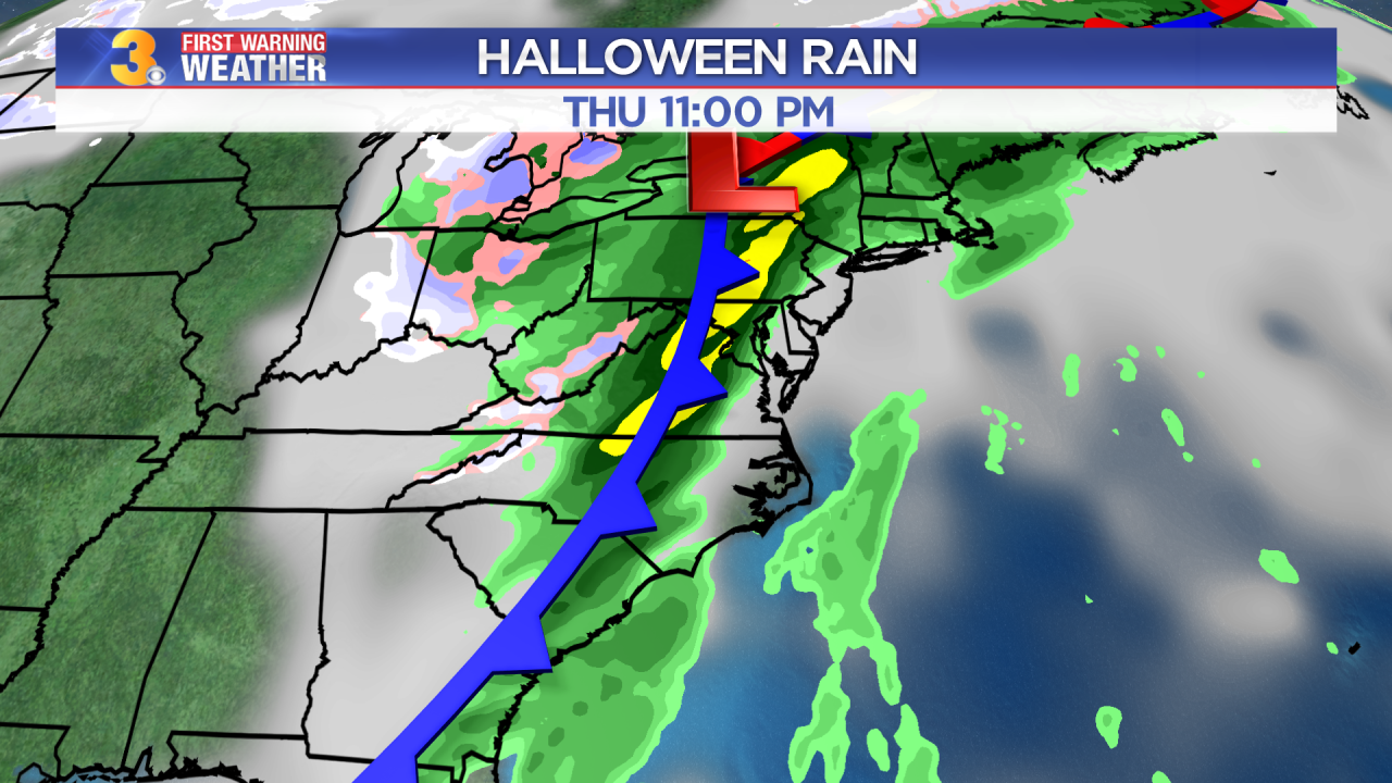 Wednesday's First Warning Forecast: Rain moving in on Halloween