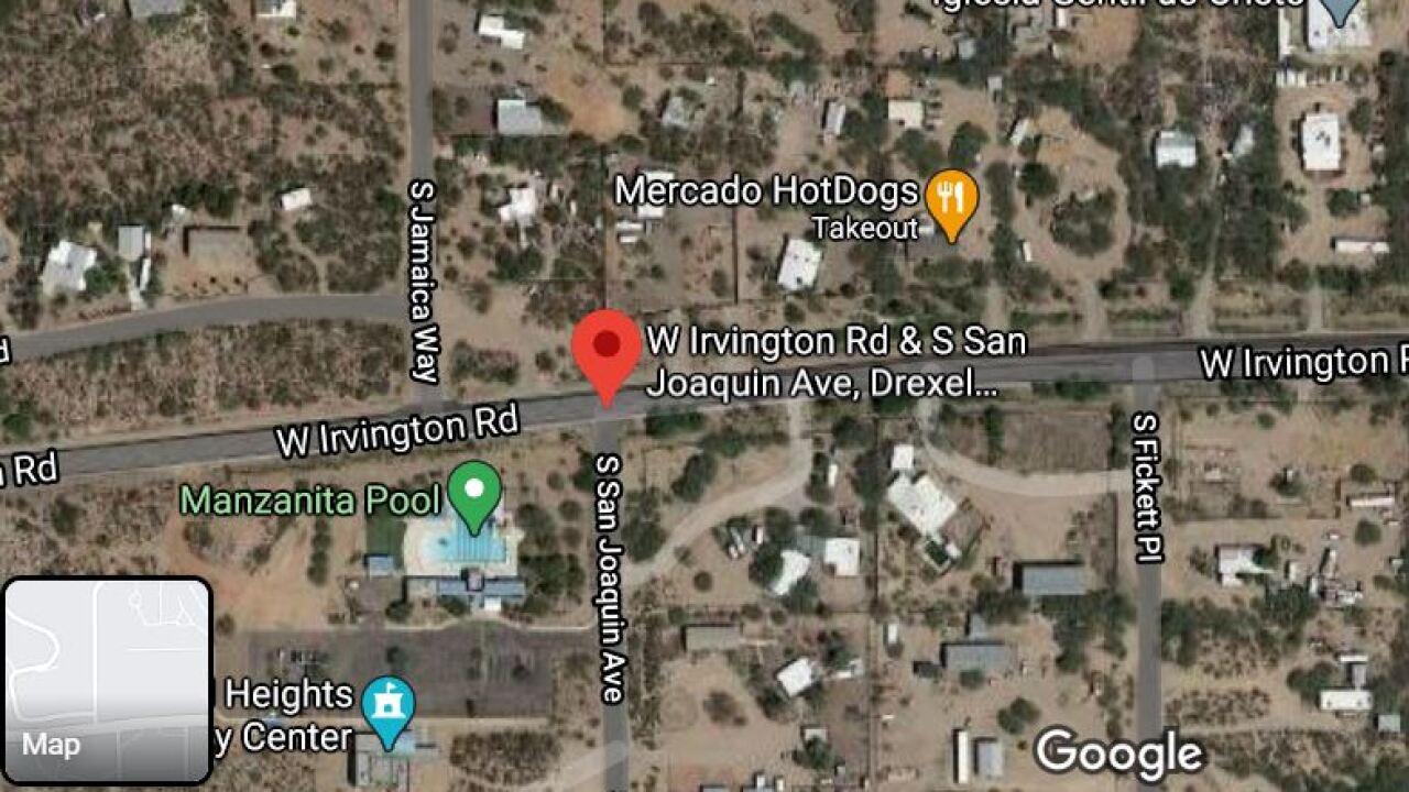 Pima County Sheriff's deputies investigated a crash near Irvington and San Joaquin Roads Thursday.