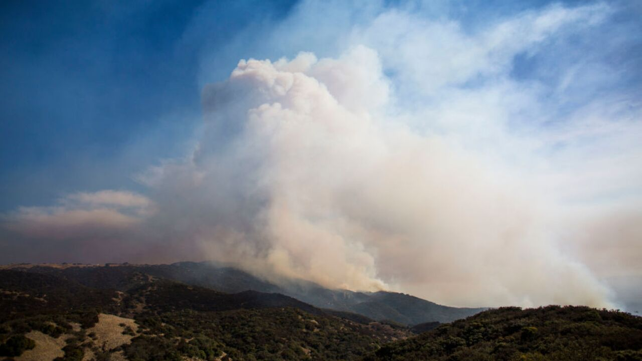 Cave Fire In Santa Barbara County Spreads To Over 4,000 Acres, Threatening Homes