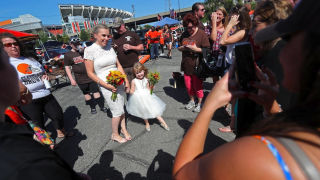 Browns tailgate wedding