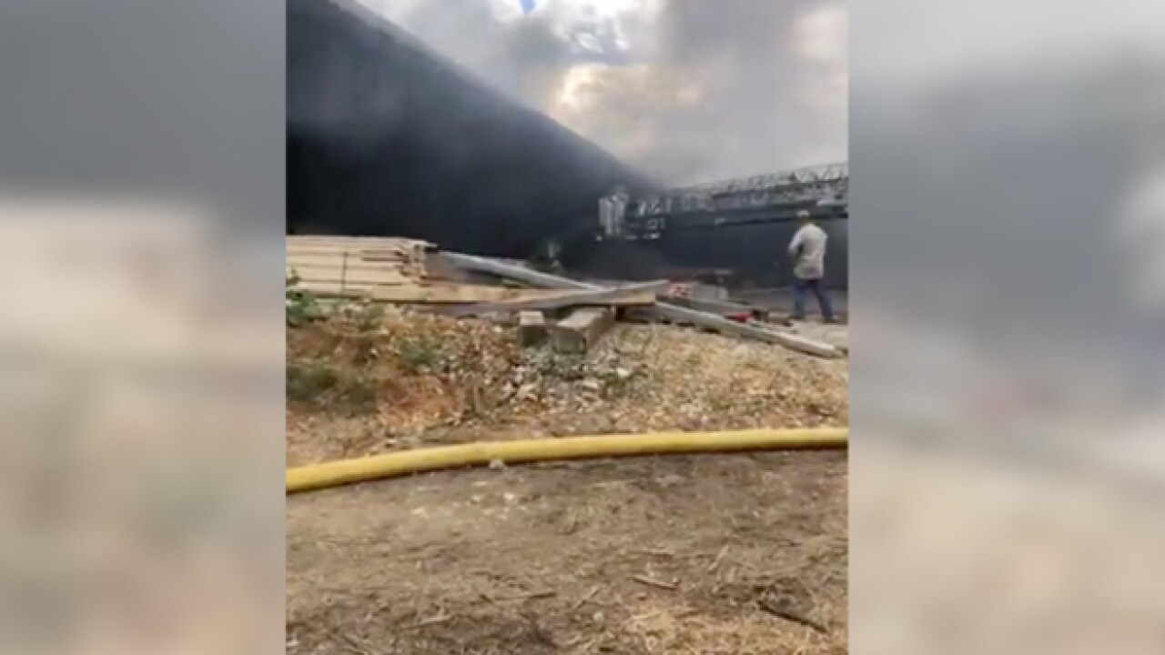 Crews Respond To Ethridge Saw Mill Fire