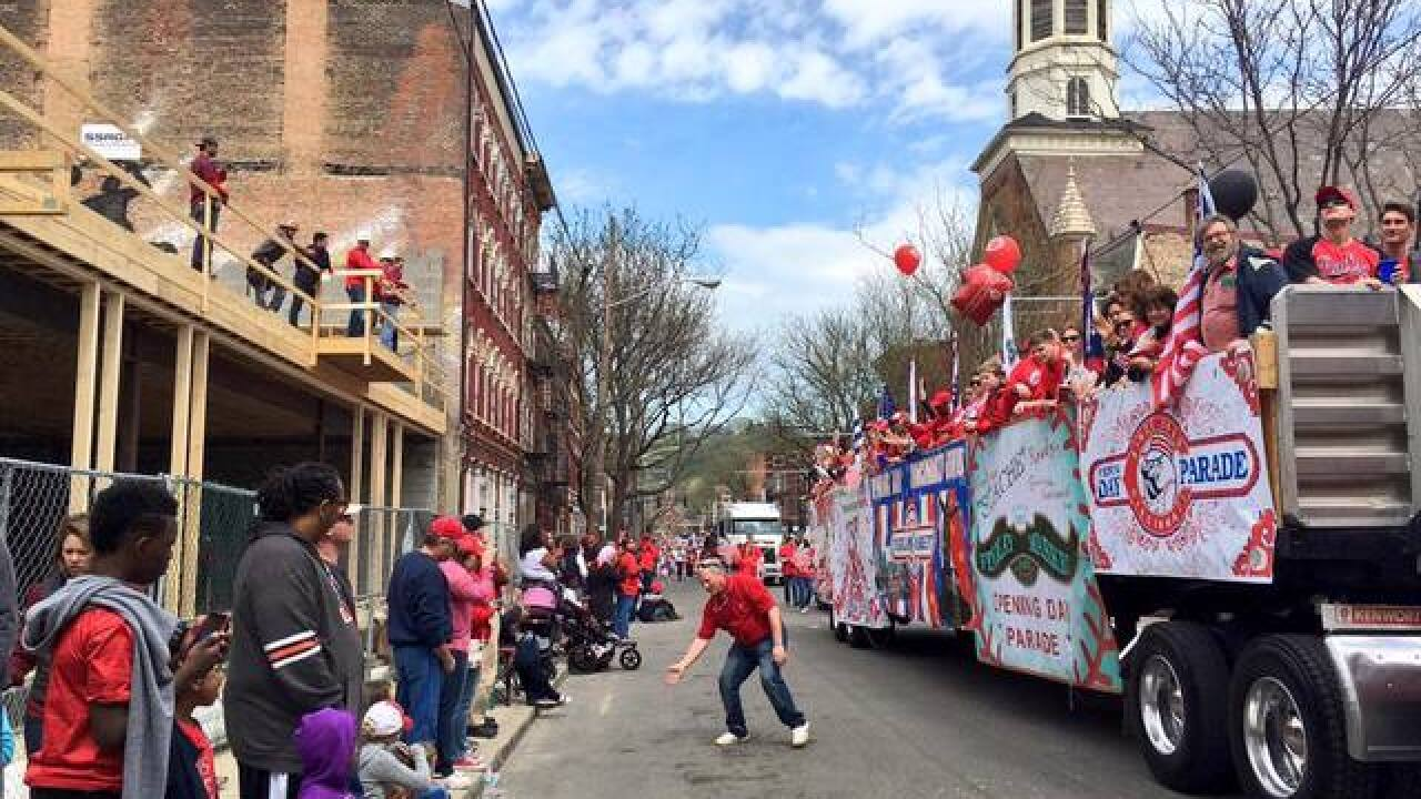 TIME-LAPSE: Opening Day parade in 45 seconds