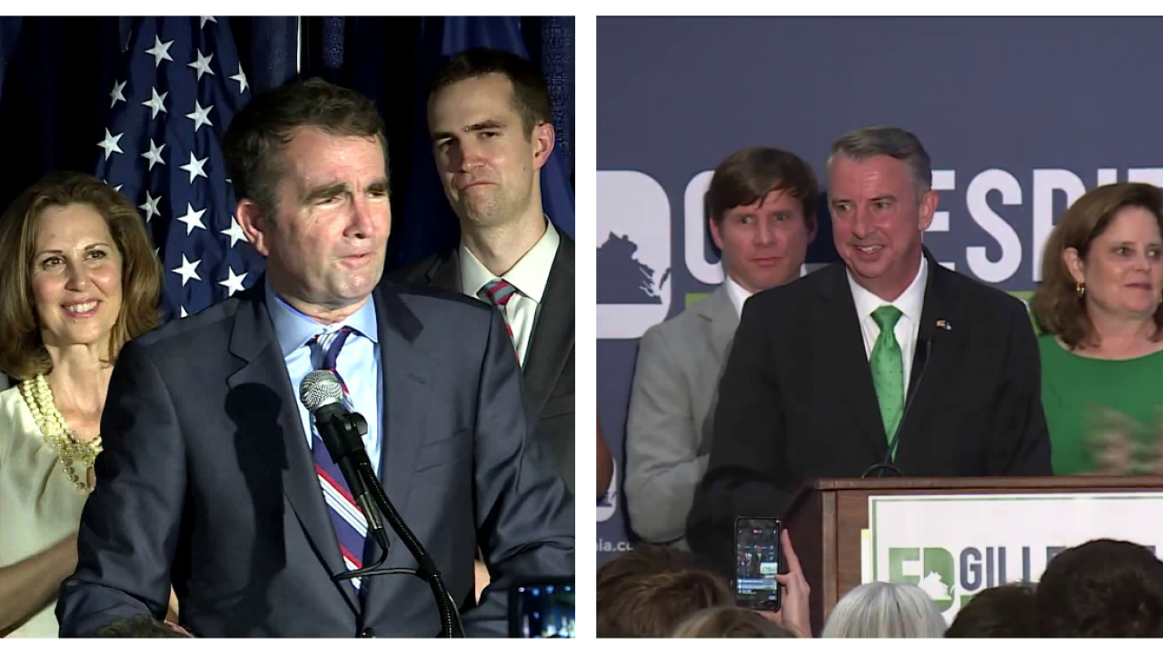 Governor's race between Northam and Gillespie is close, VCU pollshows