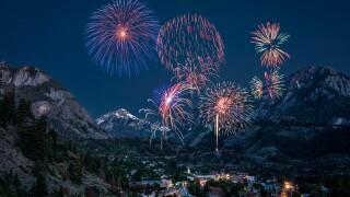 Ouray, Colorado fireworks