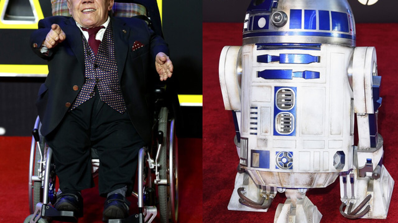 Kenny Baker, actor who played 'Star Wars' character R2-D2, died
