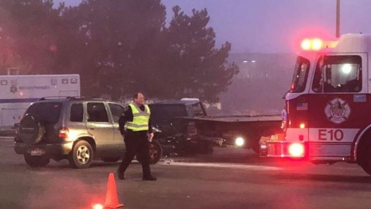 Three injured in early-morning crash