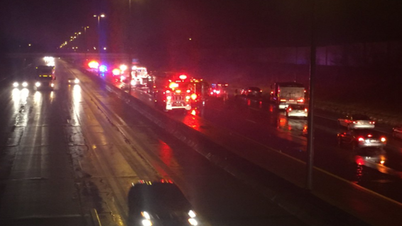 Cleveland officer hit by car on I-90