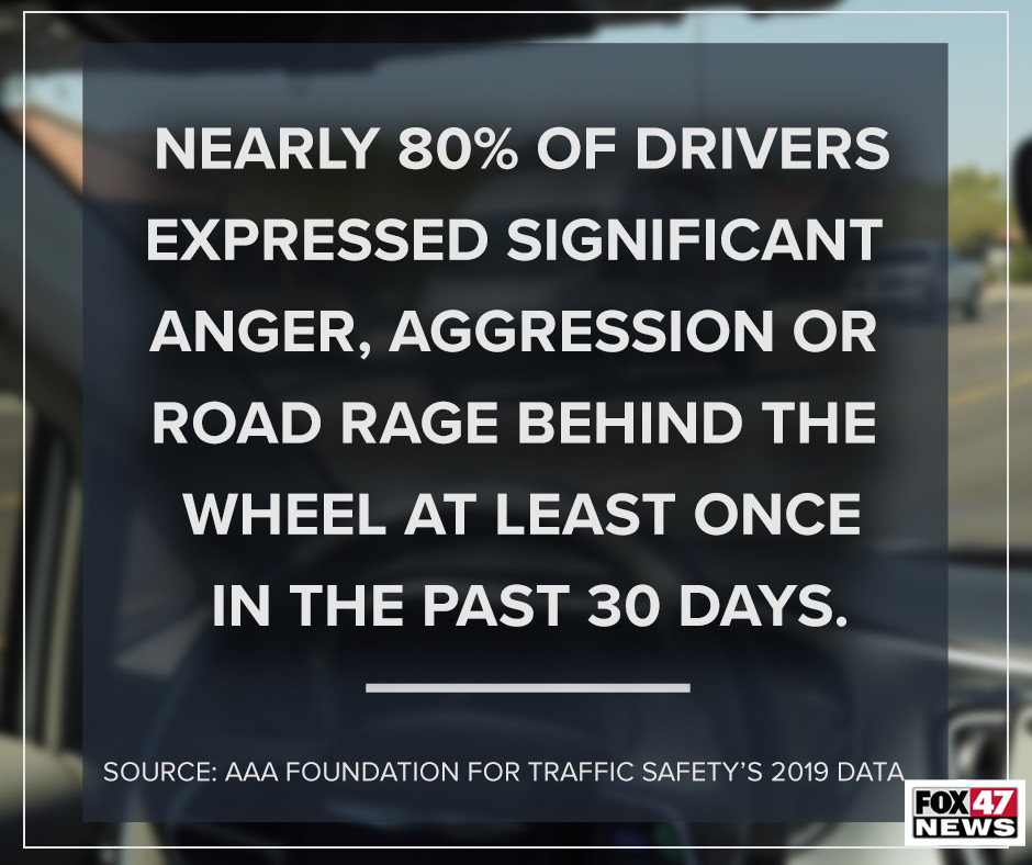 Nearly 80% of drivers expressed significant anger, aggression or the road rage behind the wheel at least once in the past 30 days.