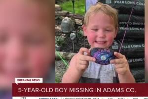 Adams County emergency crews search for missing 5-year-old boy