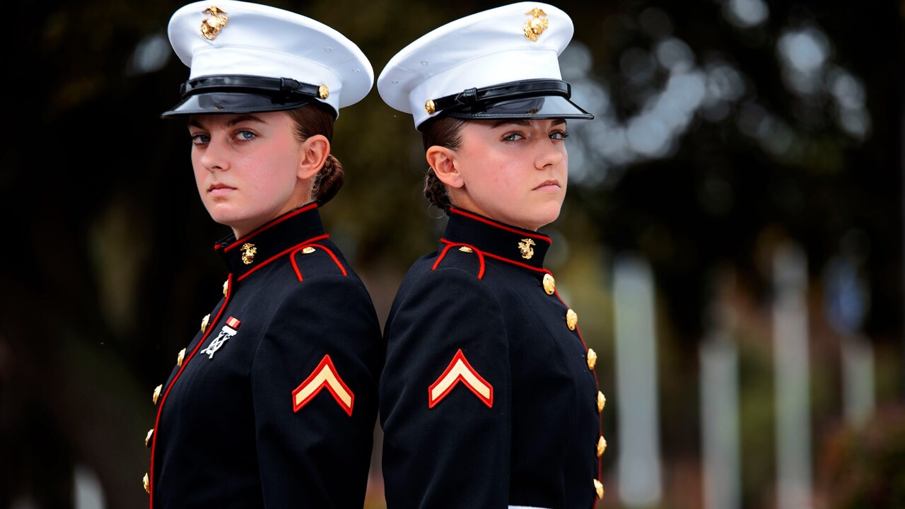 Two sets of sisters graduate Marine Corps recruit training together