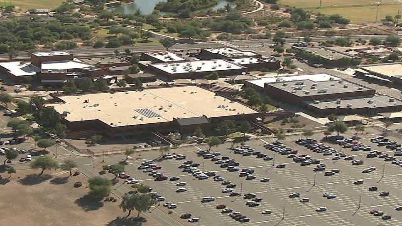 Red Mountain High School Campus Map.Officials Gun Found In Backpack At Red Mountain High School In Mesa