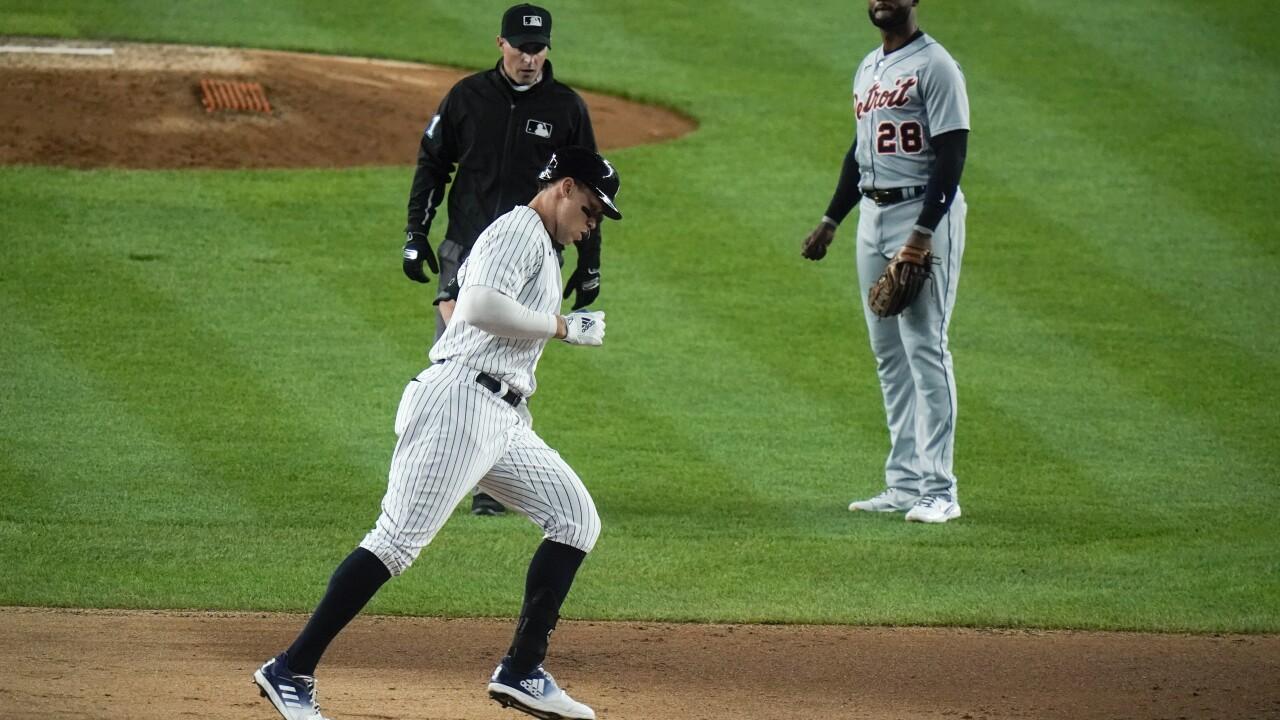 Aaron Judge Tigers Yankees Baseball
