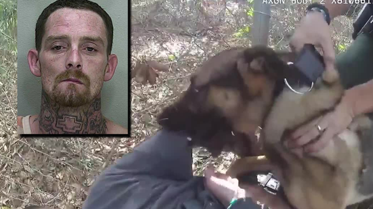 Man injects heroin while being chased by cops