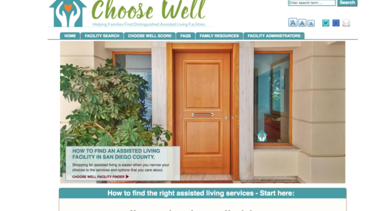 New San Diego County senior residential care tool can help families 'Choose Well'