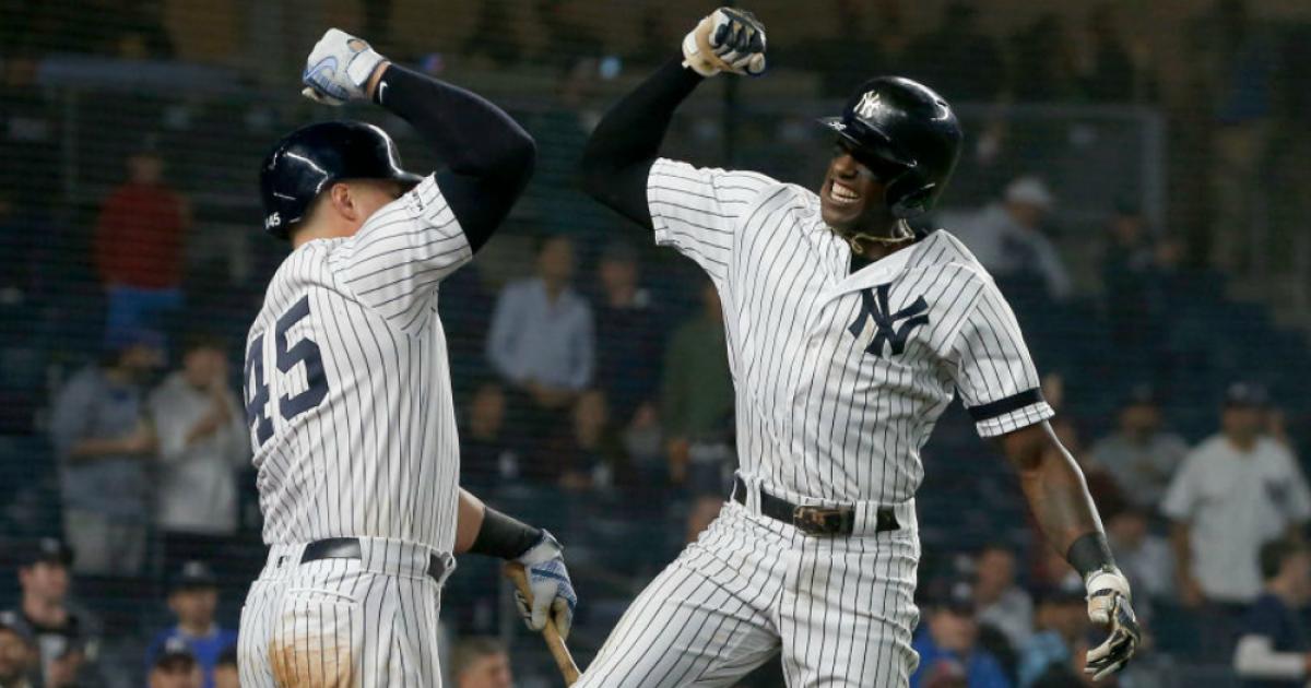 save off 8f292 f01db Cameron Maybin's 7th inning home run helps New York Yankees ...
