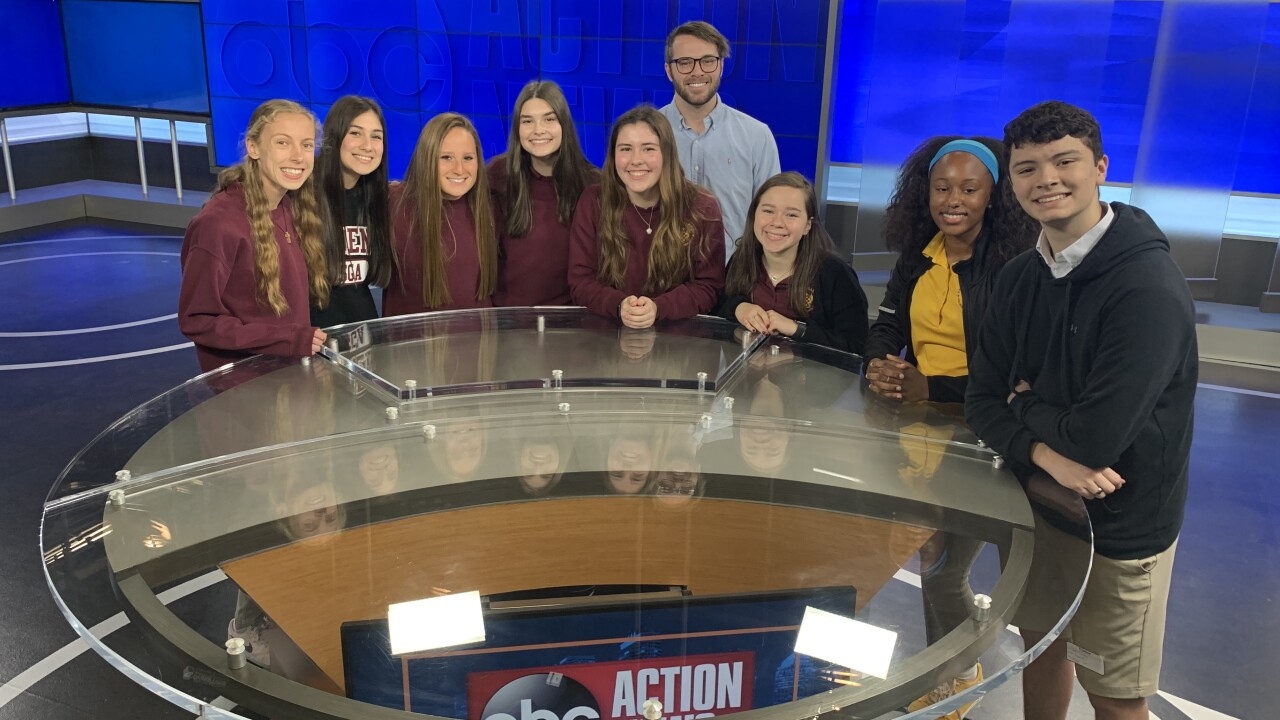 Brooks DeBartolo High School visits ABC Action News