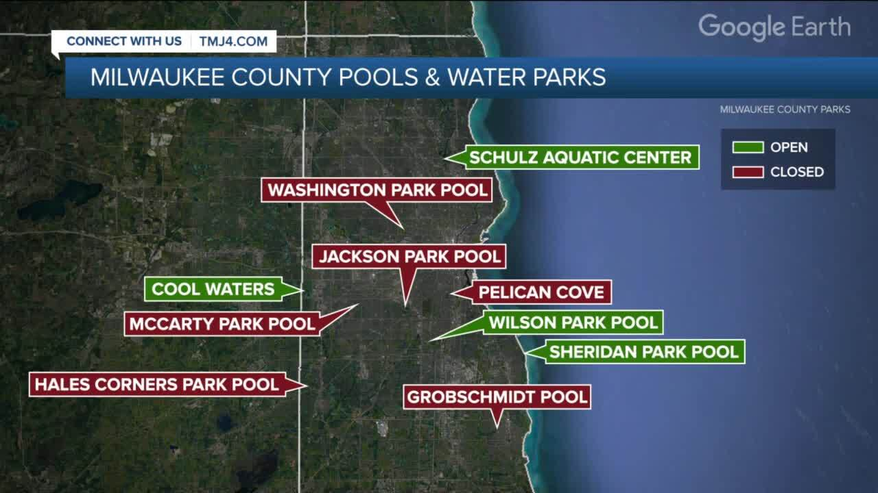 milwaukee county pools and water parks