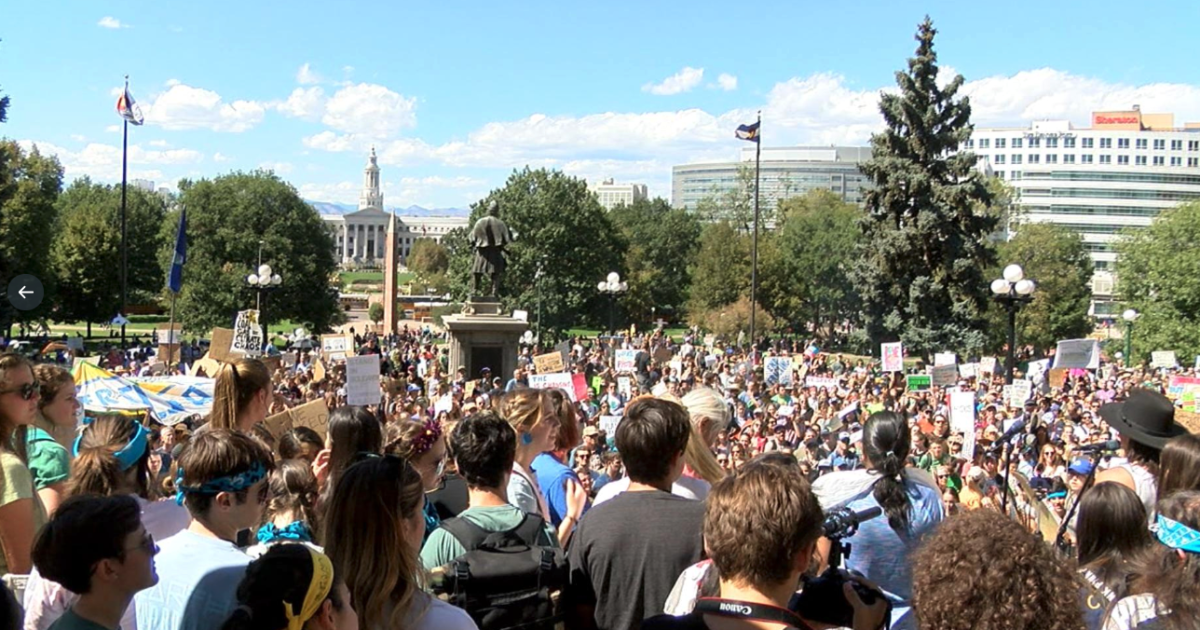 Hundreds of kids march in Denver to protest climate change