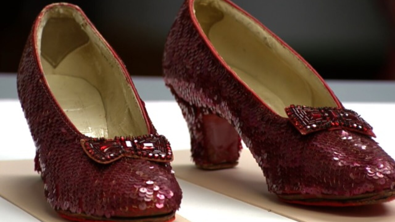 Famous ruby slippers from 'The Wizard of Oz' back on display at Smithsonian
