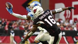 Darius Slay returns interception for TD, Lions beat Arizona