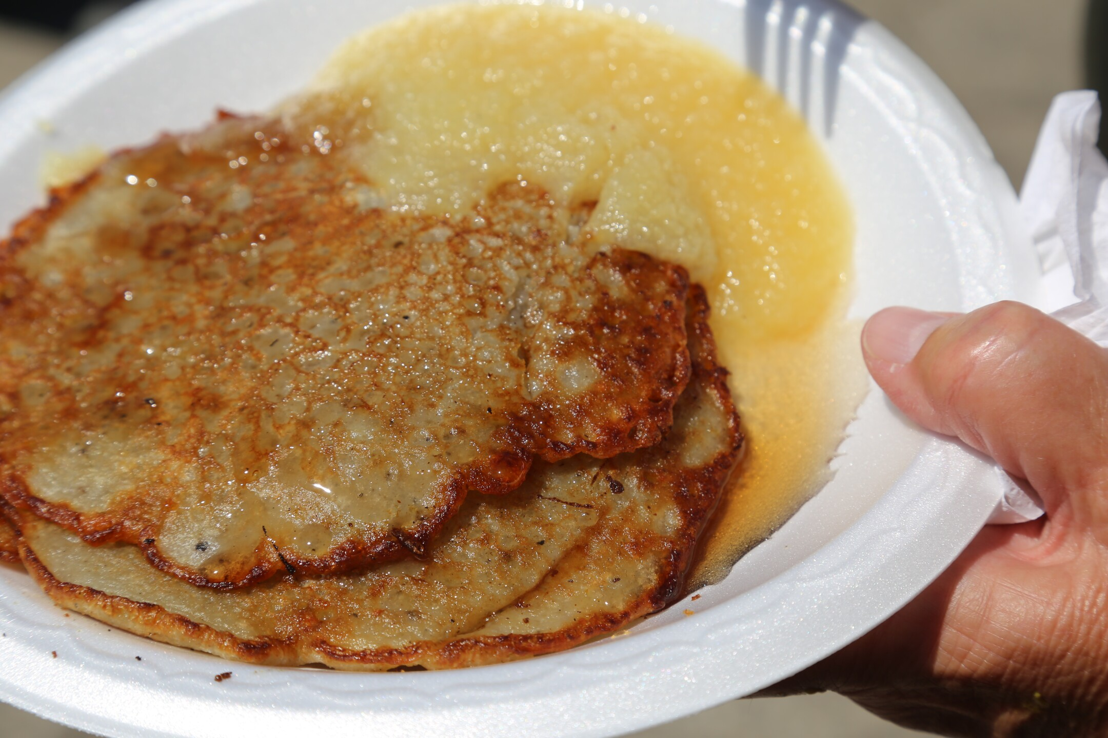 Potato Pancake and Apple sauce