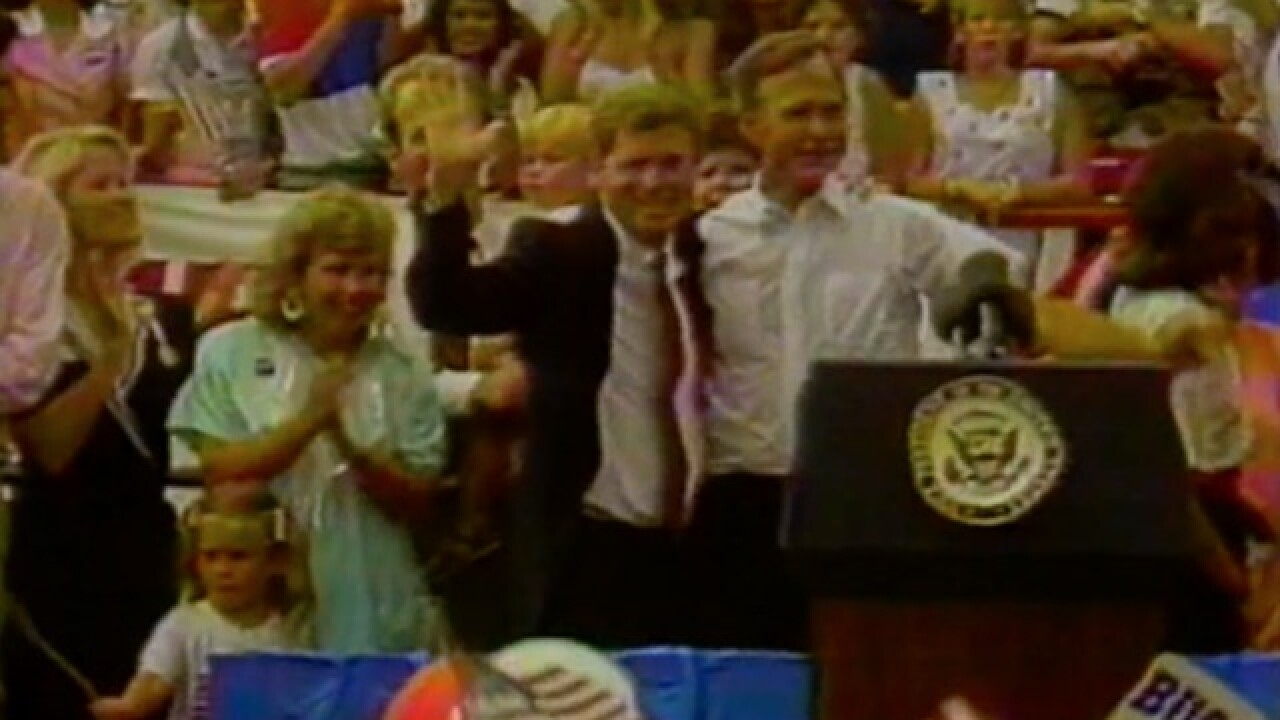 1988: Bush names Quayle as running mate