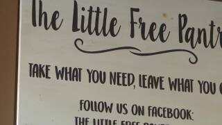The Little Free Pantry provides food for kids and families