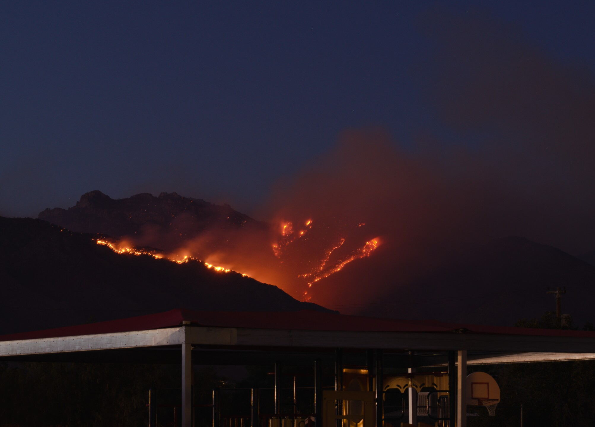 The Bighorn Fire as seen from next door to Caroline Lecaplain's home