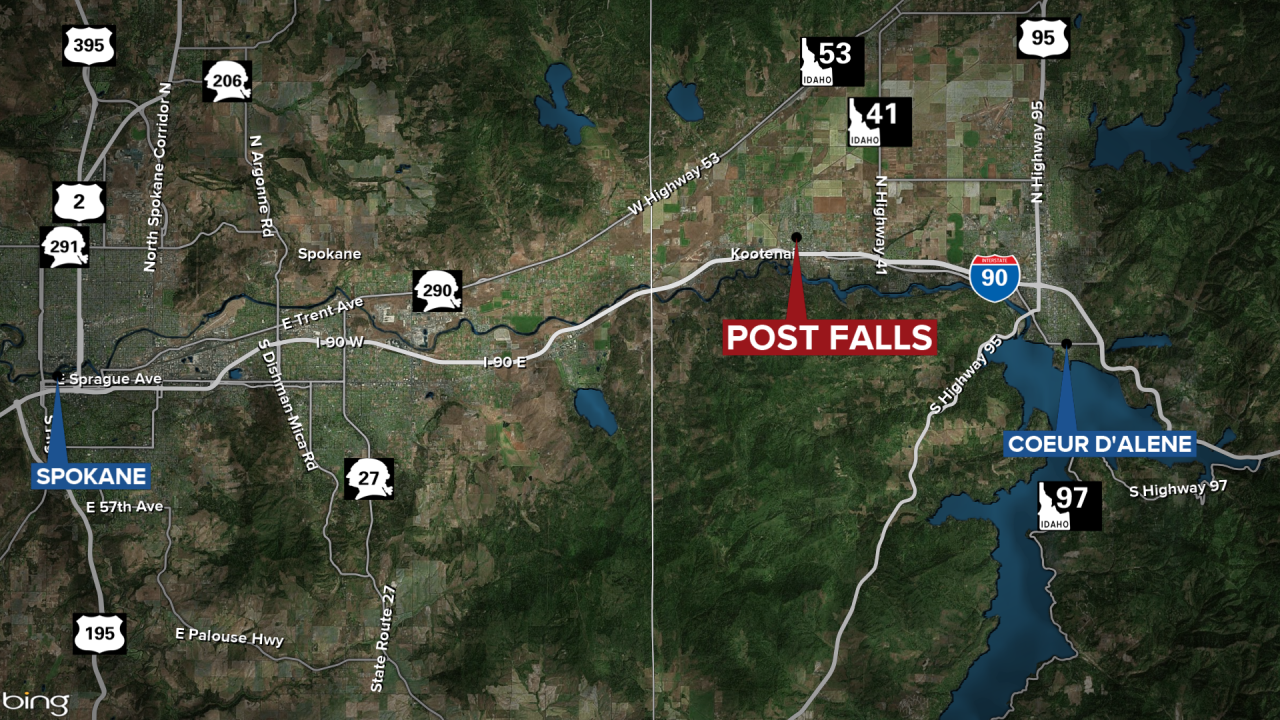 Post Falls Wrong Way Fatal