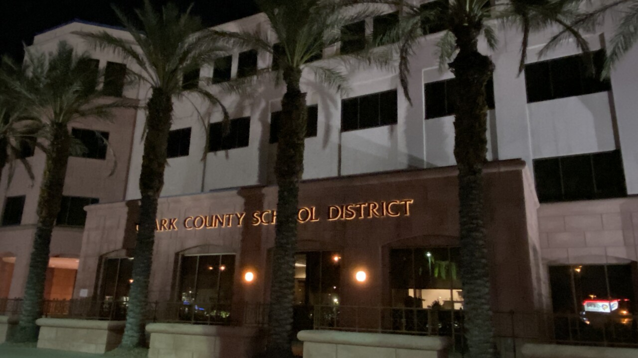 These are photos of the Clark County School Board District headquarters located at Decatur and Jones as seen July 21, 2020
