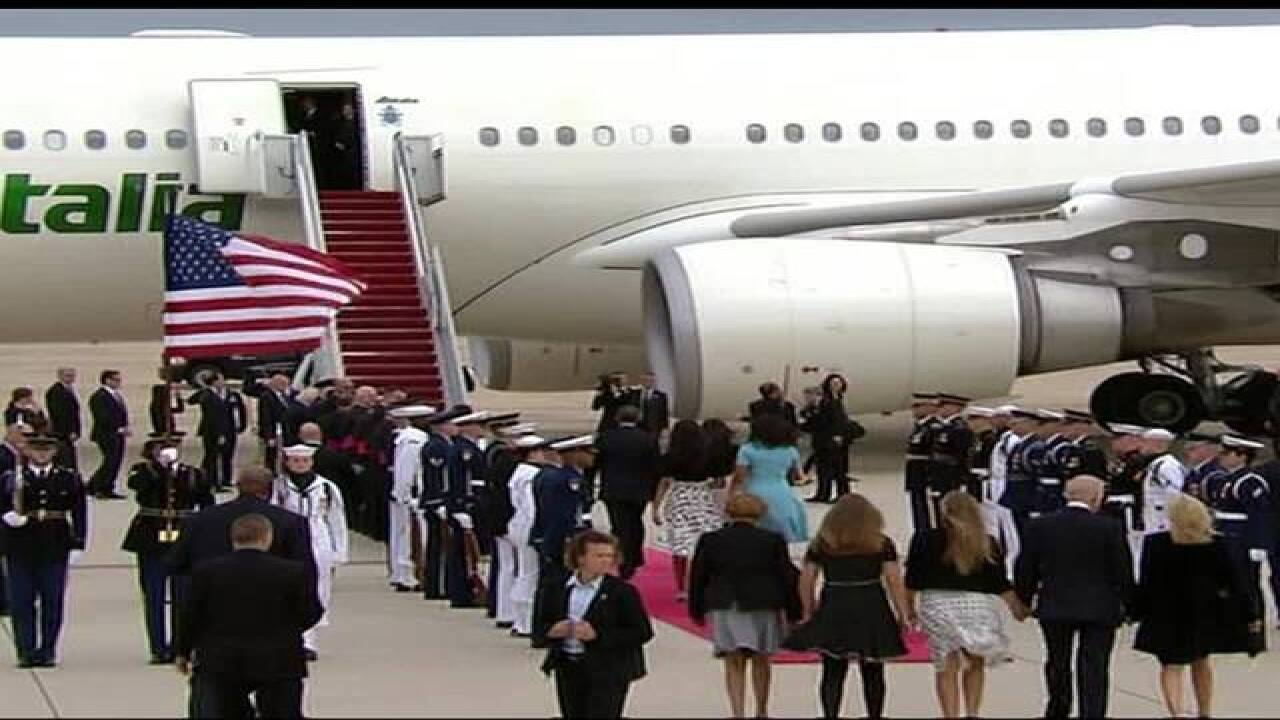 WATCH: Pope Francis arrives in U.S.