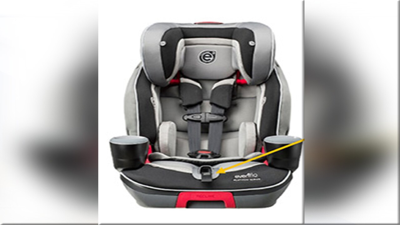 Evenflo recalls Evolve Booster Seats due to harness issues