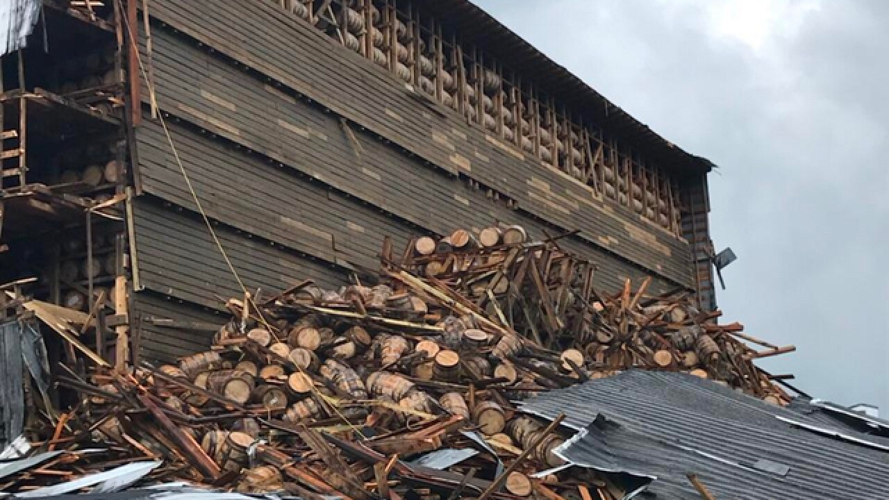 Crews still working to save bourbon after warehouse collapse