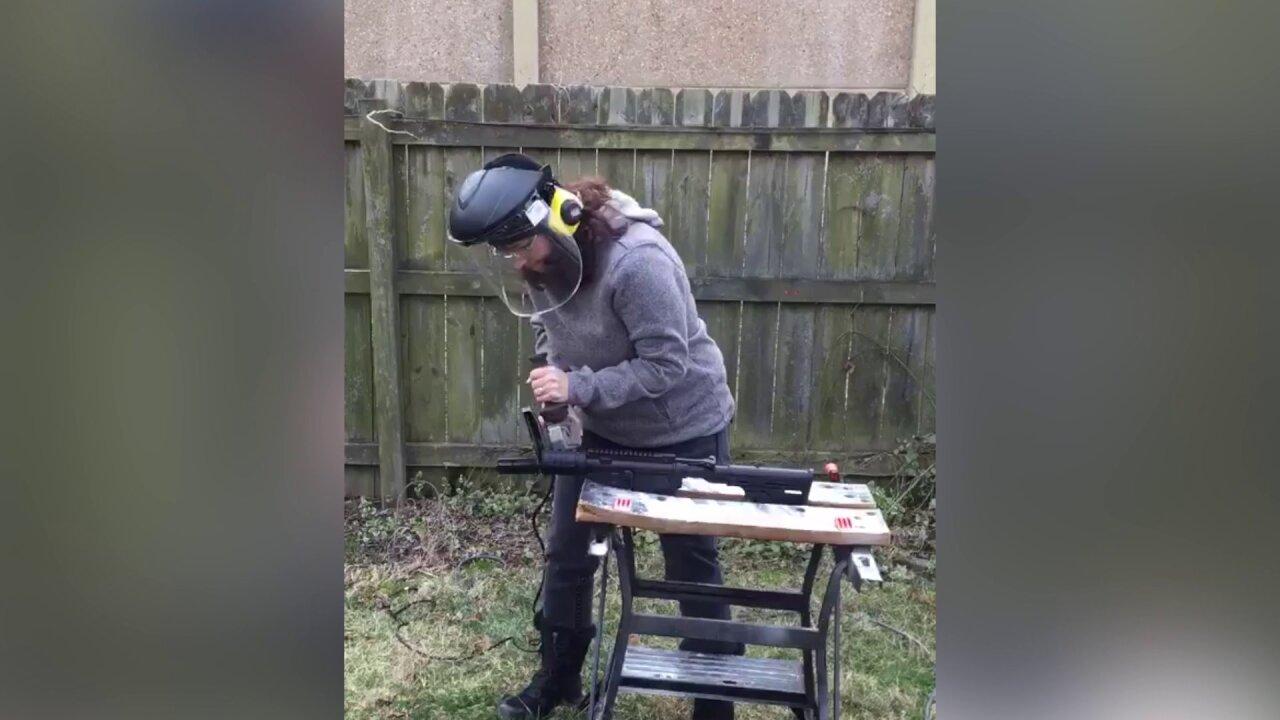 Va. teacher, congressional candidate saws AR-15, promises gunreform