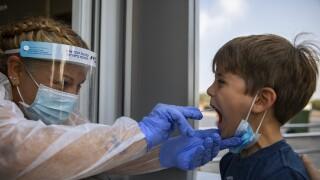 Child COVID-19 test