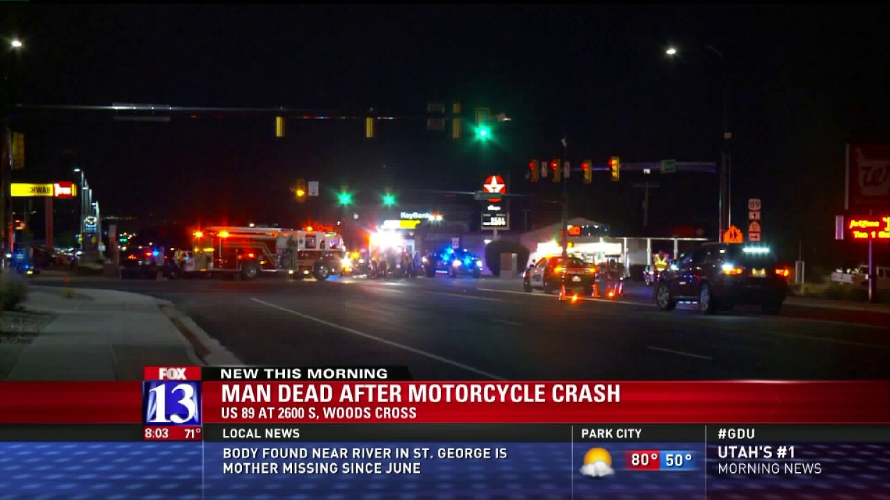Police investigating fatal motorcycle crash in WoodsCross