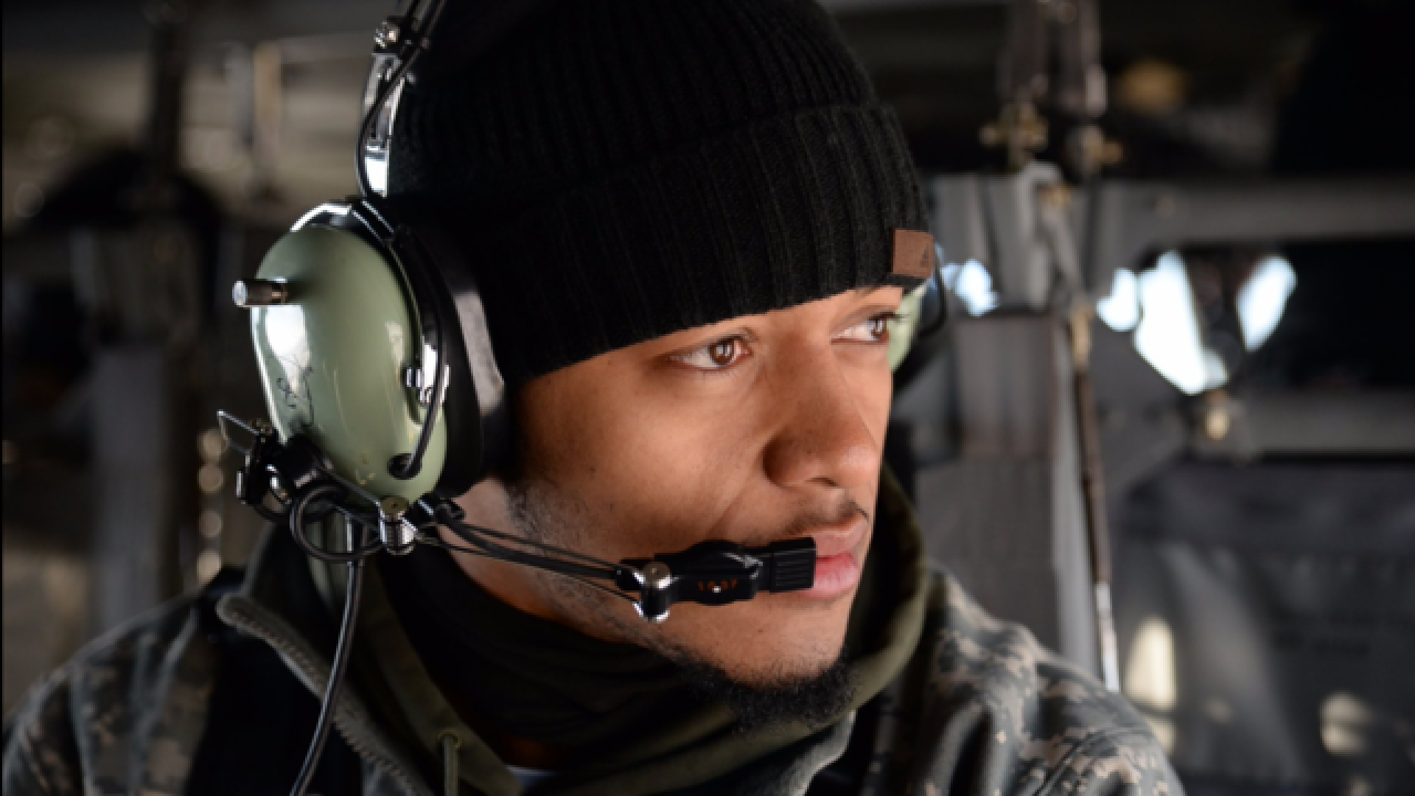 Packers fly in a Blackhawk helicopter