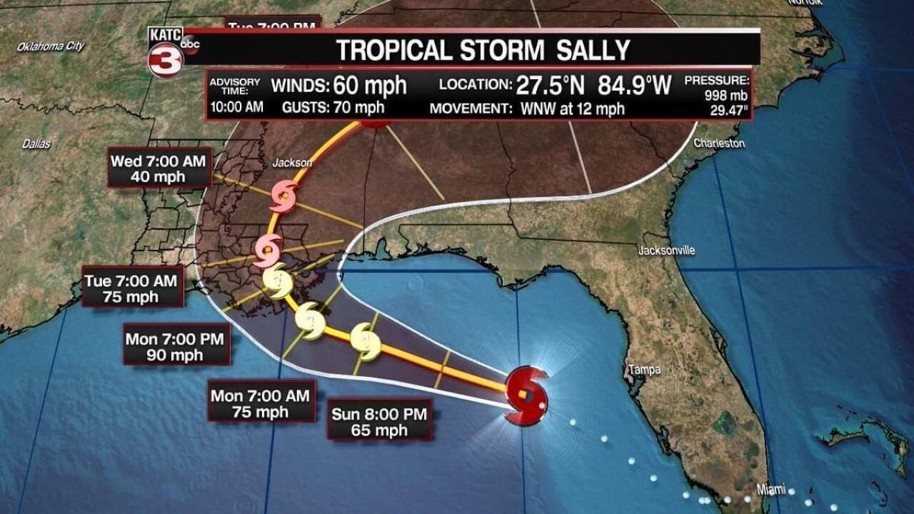 10 Am Latest On Tropical Storm Sally