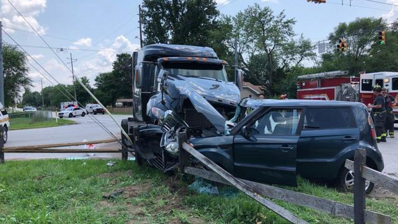 Boy seriously injured after crash with semi