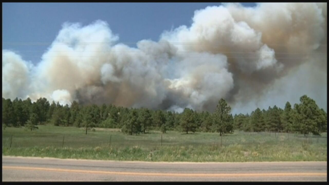 Smoke from Black Forest Wildfire