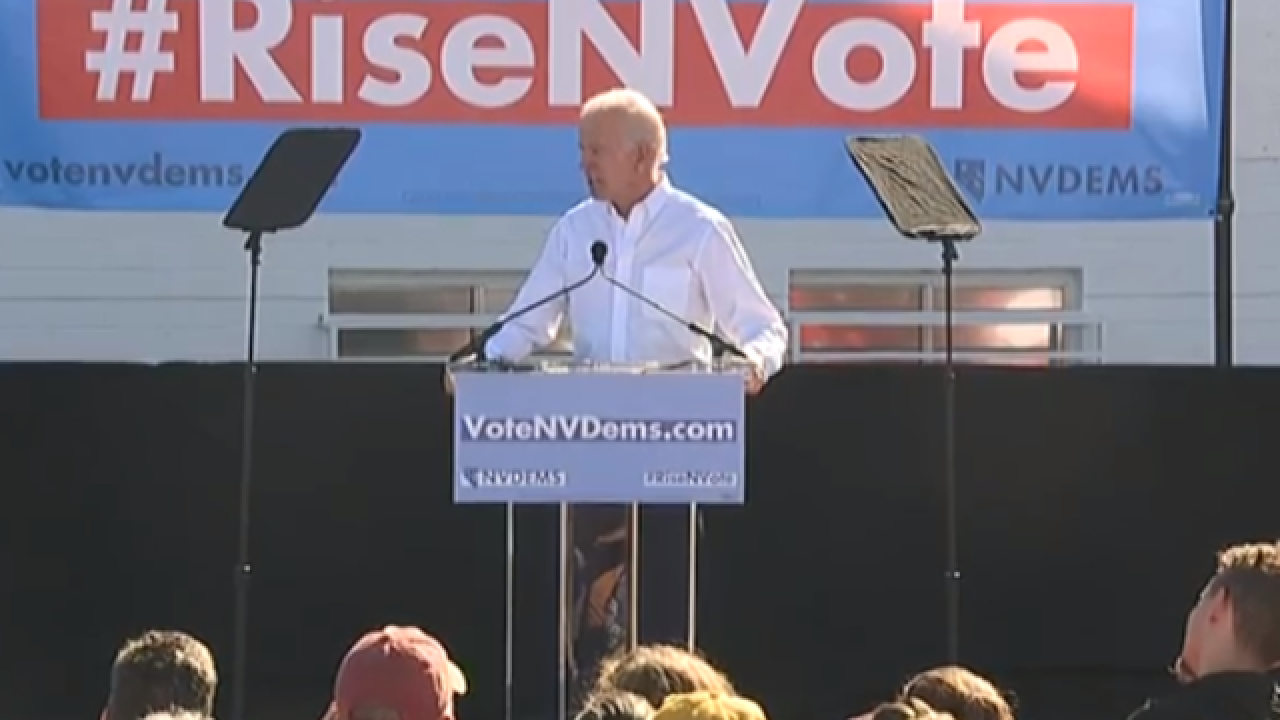 Joe Biden headlines 'vote early' rally in Vegas