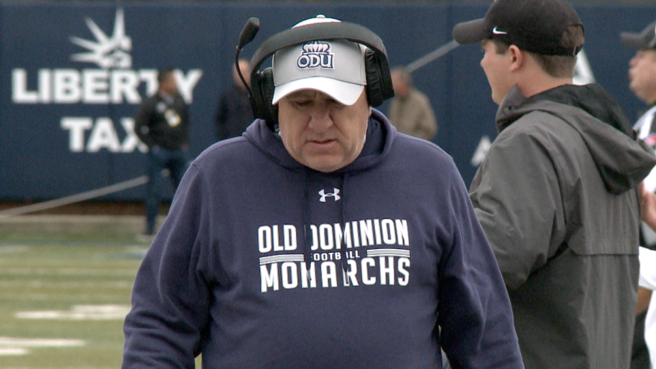 Old Dominion football coach Bobby Wilder announces four coaching staff changes