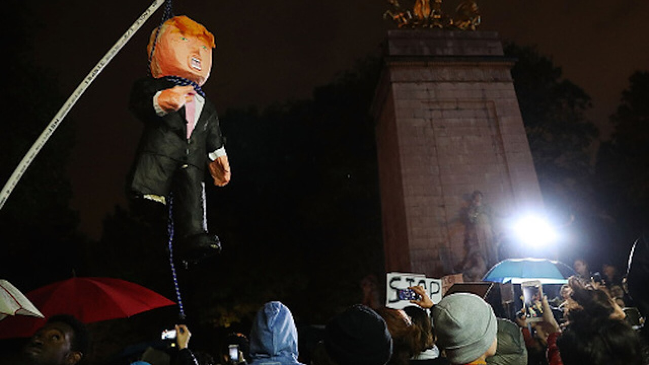Protests erupt in New York, Chicago, California after Trump win