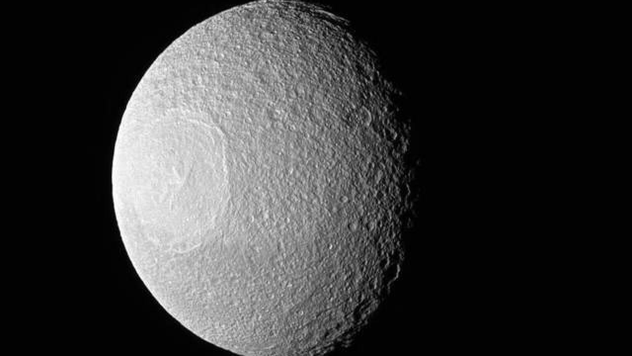 This moon looks remarkably like the Death Star