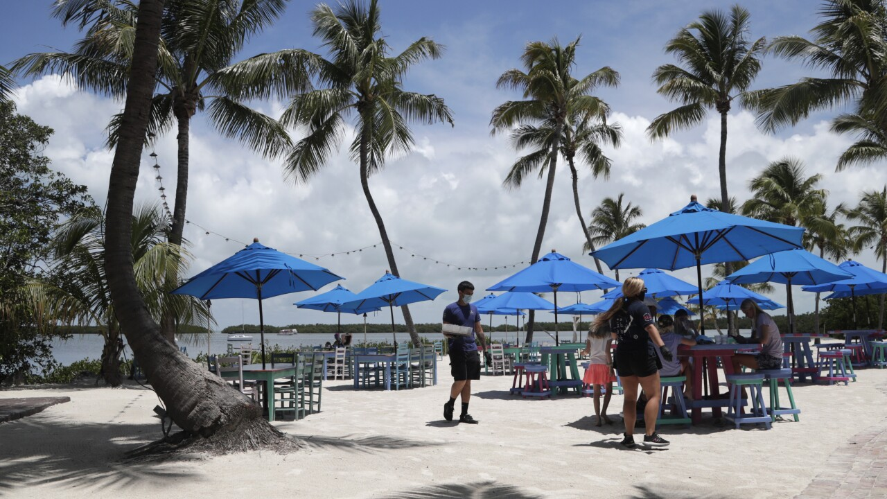 Morada Bay Beach Cafe in Islamorada, June 1, 2020