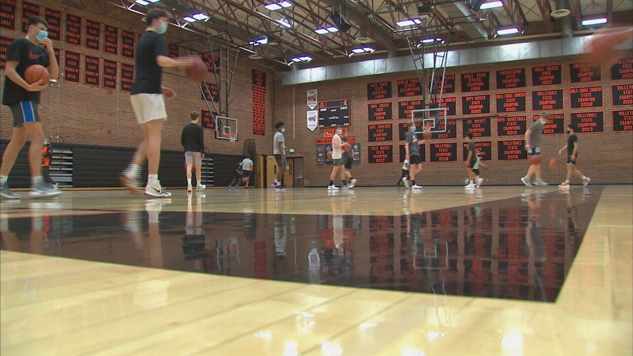 Talented Lewis-Palmer hoops team thankful to be back on the court