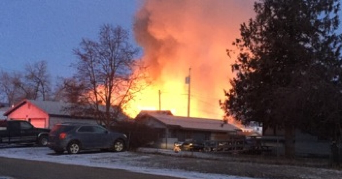 Crews battling structure fire in Polson