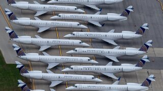 View from AirTracker 5 of United's Fleet at Cleveland Hopkins International Airport.