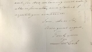 Early Michigan Governors Letters Come To Liberty Coin Service